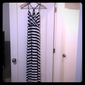 GAP Maxi dress Navy/white stripe Size Smalll
